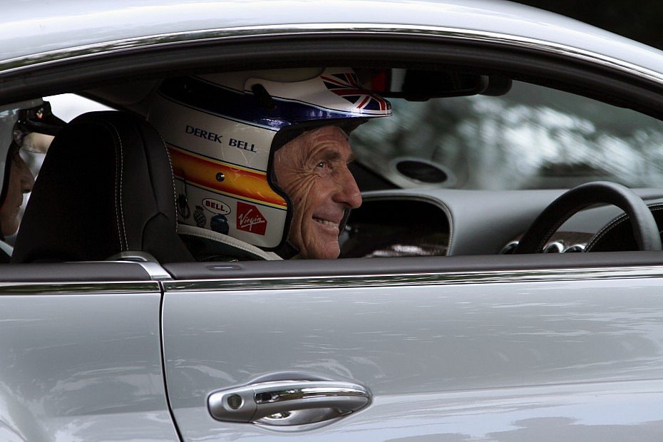 Derek Bell enjoying Festival of Speed at Goodwood